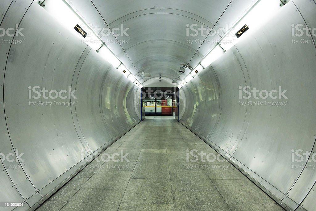Underground Tunnel in London stock photo
