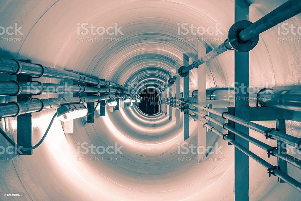 Underground tunnel stock photo