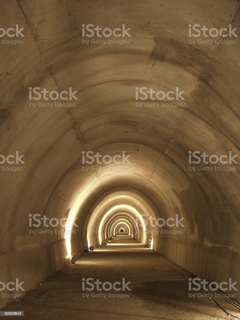 Подземный туннель Стоковые фото Стоковая фотография
