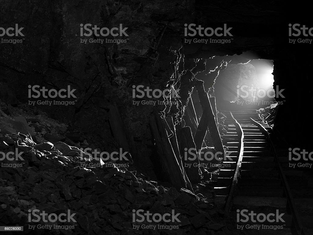 Underground tunnel,Jersey. stock photo