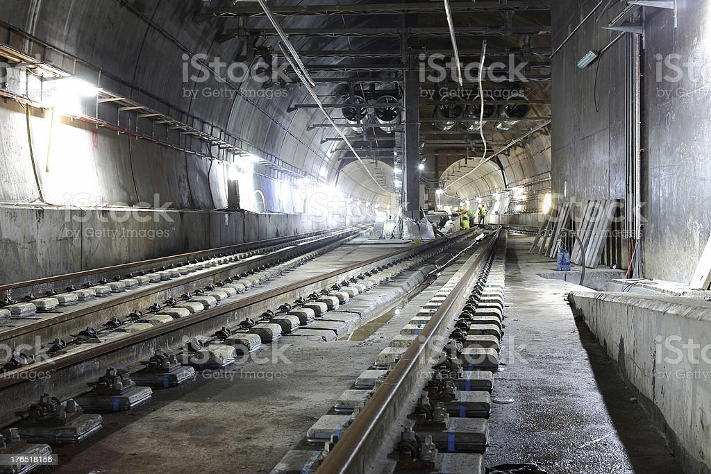 Underground tunnels stock photo