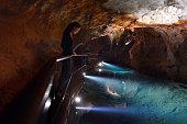 Underground water pool in Jenolan Caves Blue Mountains, Australia