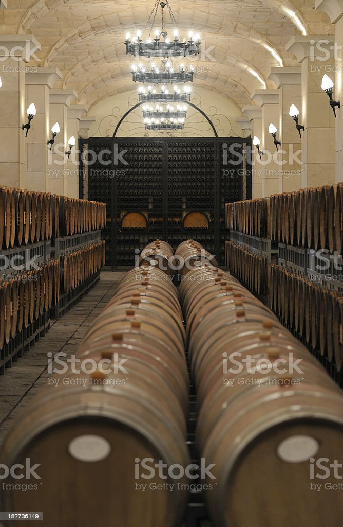 Underground Wine Cellar - Large royalty-free stock photo