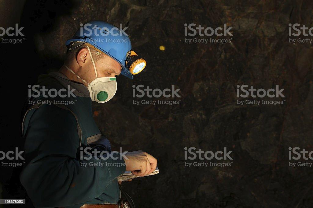 Underground worker stock photo