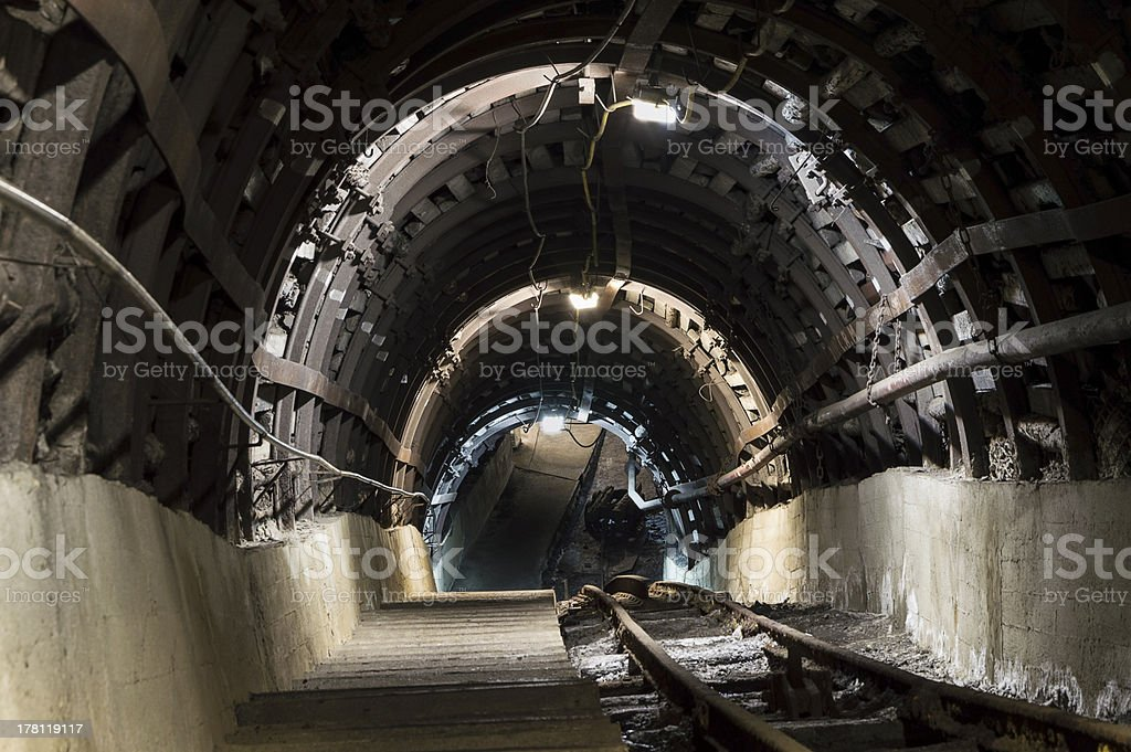 Undergroung Tunnel royalty-free stock photo