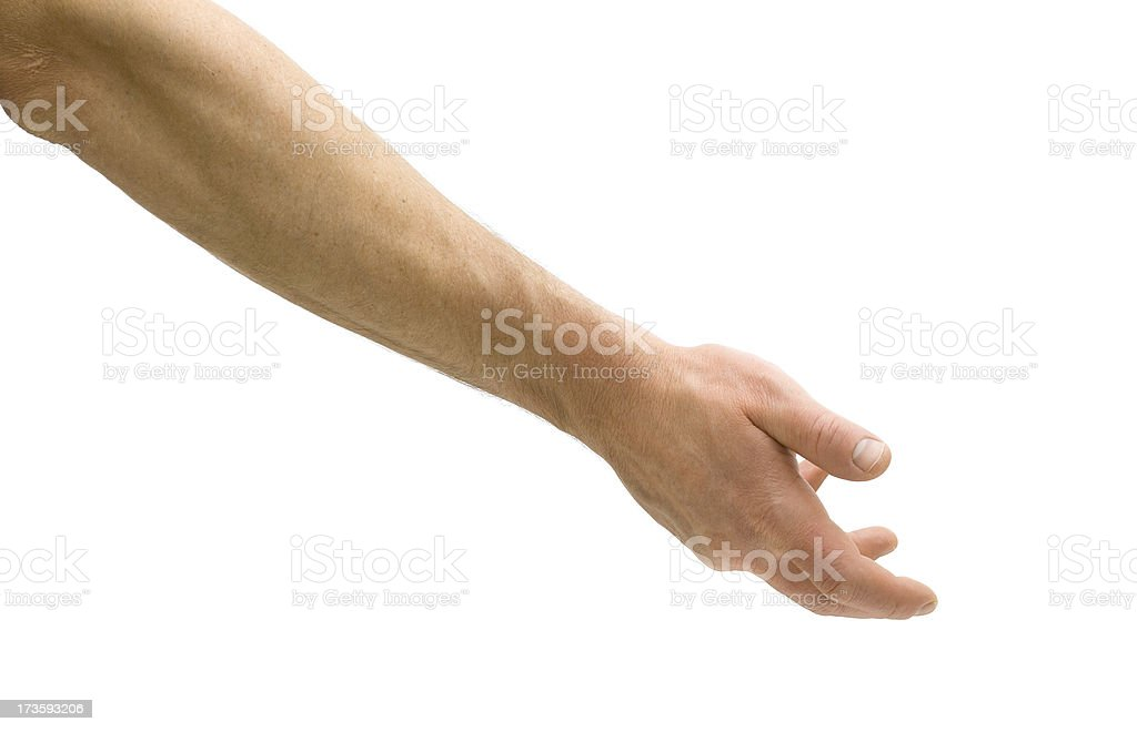 Underhand Pitch stock photo
