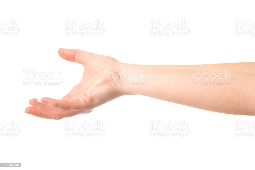 Underhand Throw stock photo