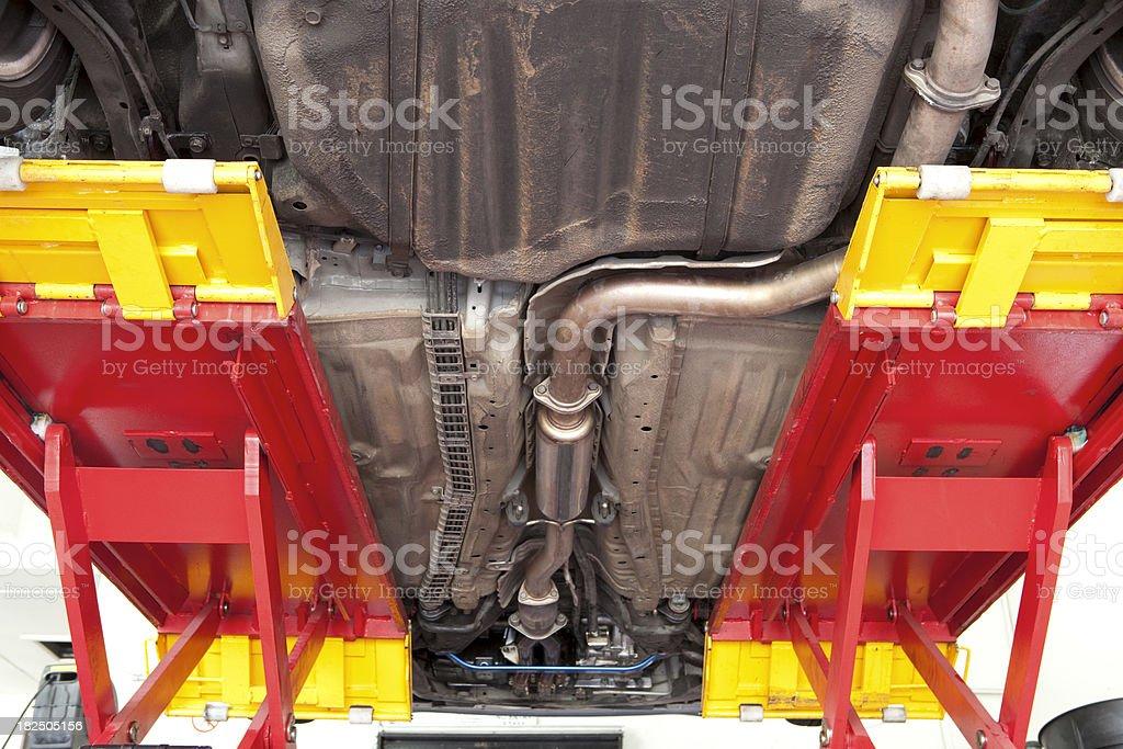 Underneath a Car royalty-free stock photo