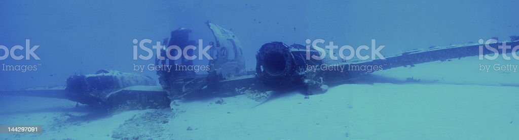 Undersea Plane Wreck royalty-free stock photo