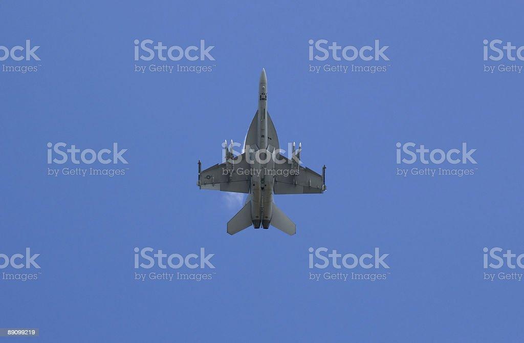 Underside of an F18 stock photo
