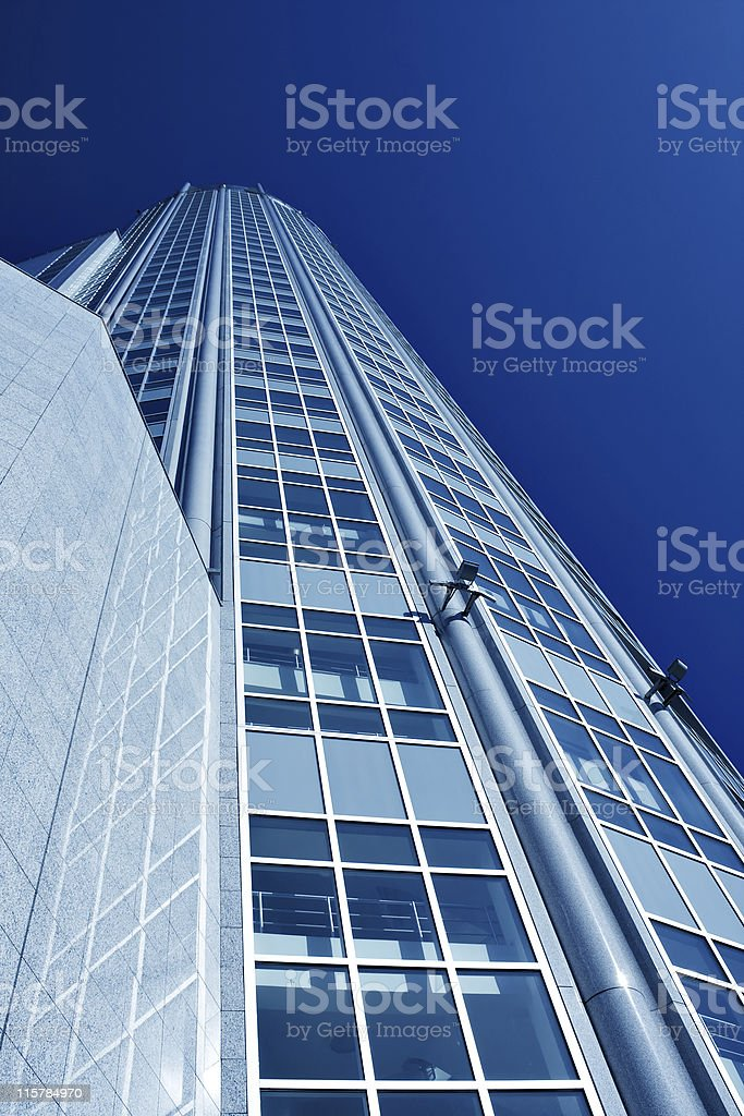 Underside view to new skyscraper royalty-free stock photo