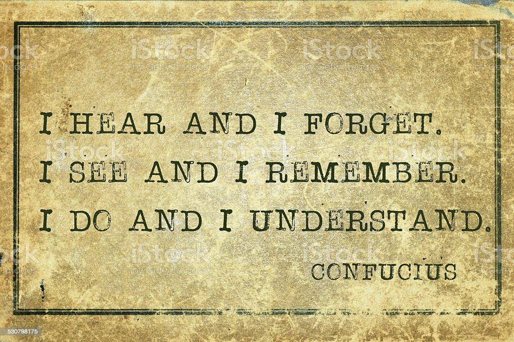 understand Confucius stock photo