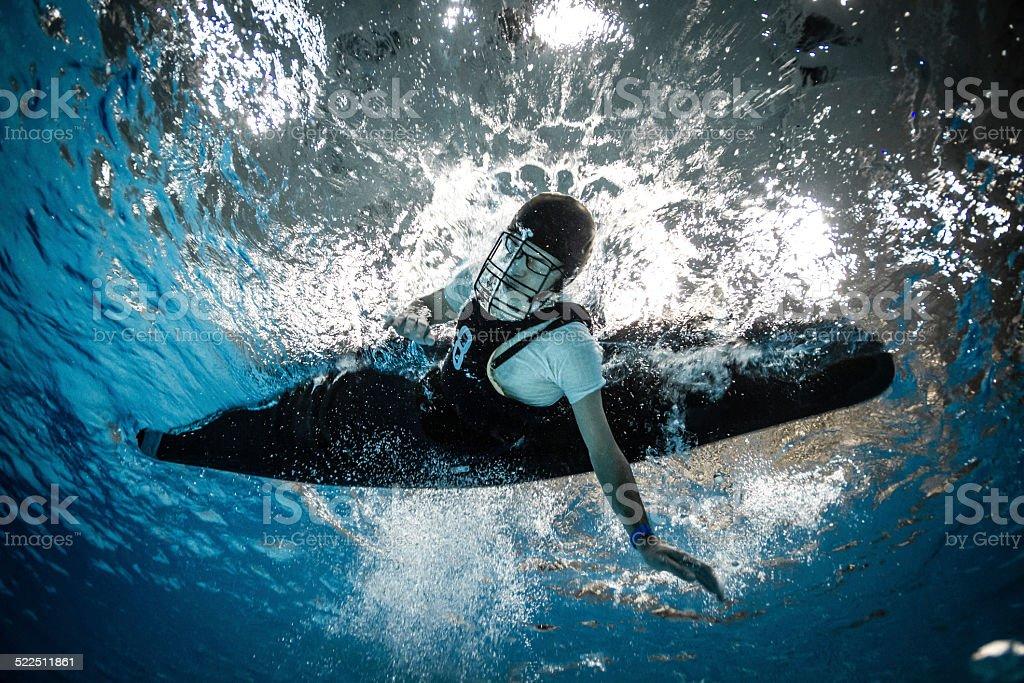 Underwater action stock photo