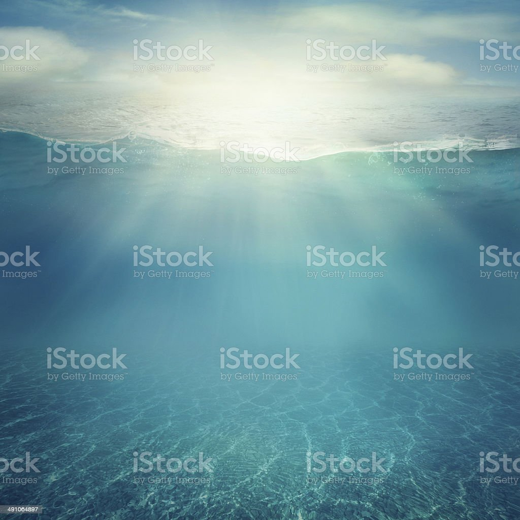 Underwater background stock photo