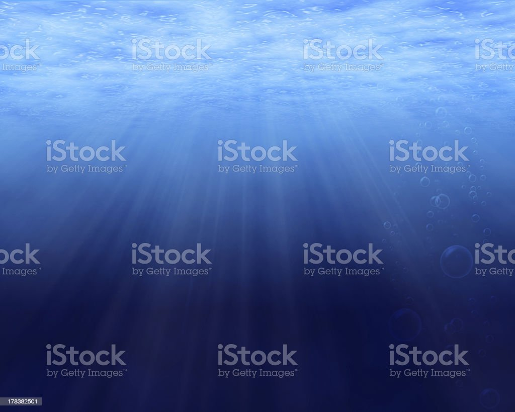 Underwater background with copy space royalty-free stock photo