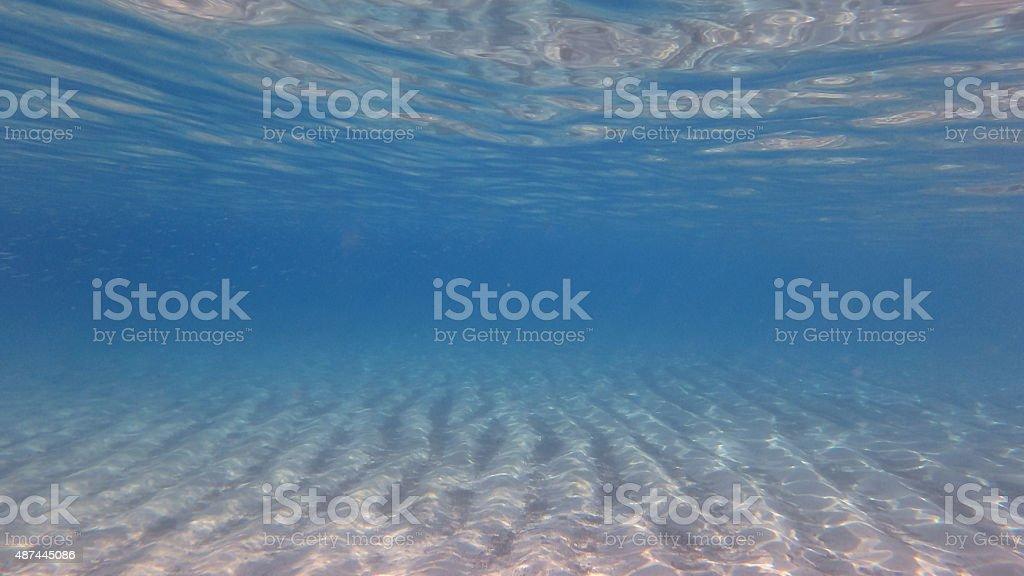 Underwater blue world stock photo