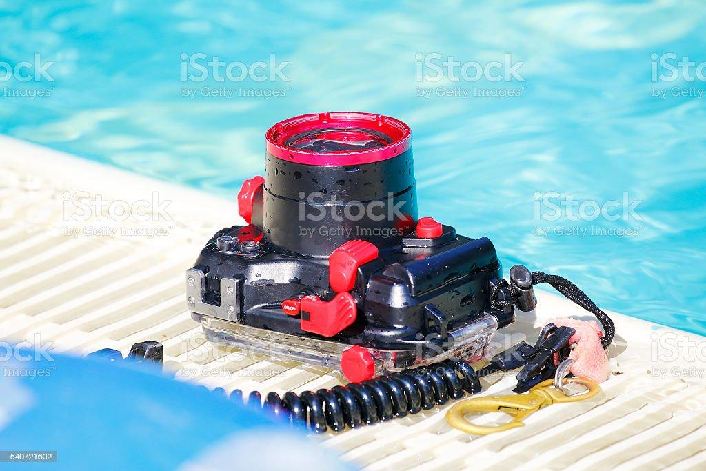 Underwater camera stock photo