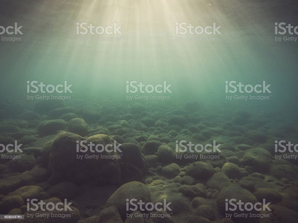 Underwater Light Rays stock photo