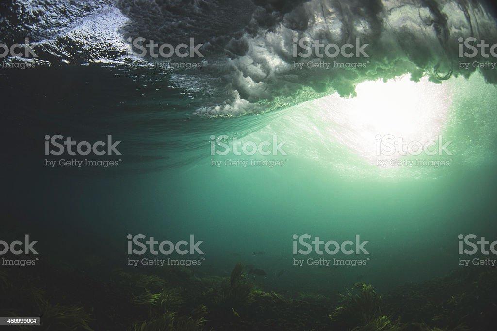 Underwater light realms stock photo