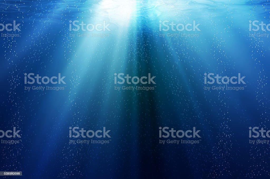 Underwater or under the sea stock photo