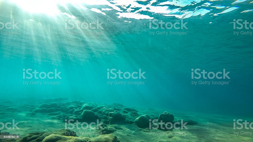 Underwater photograph early morning stock photo