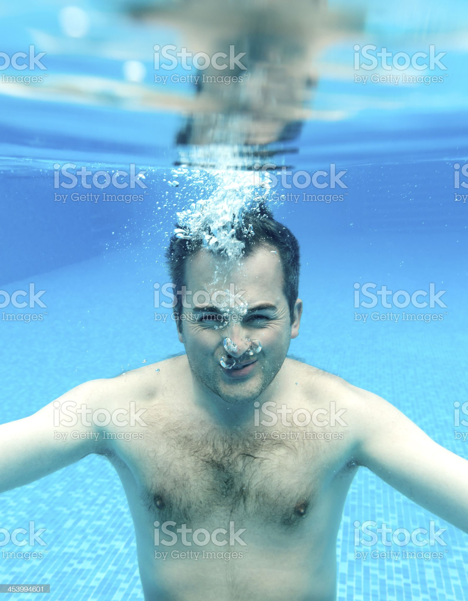 underwater portrait royalty-free stock photo