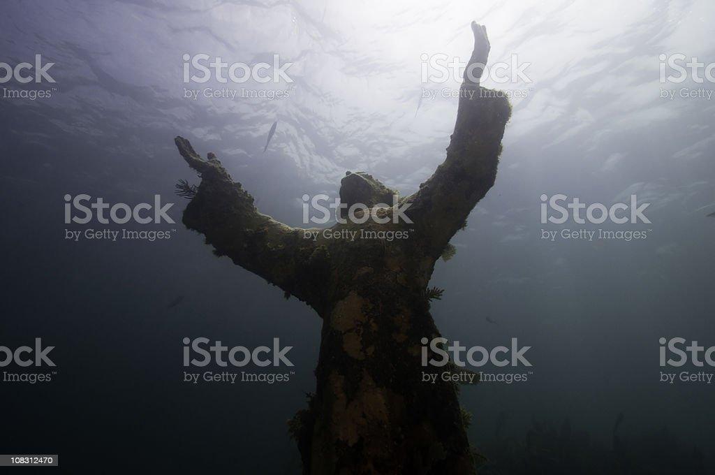 Underwater Religious Enlightenment stock photo