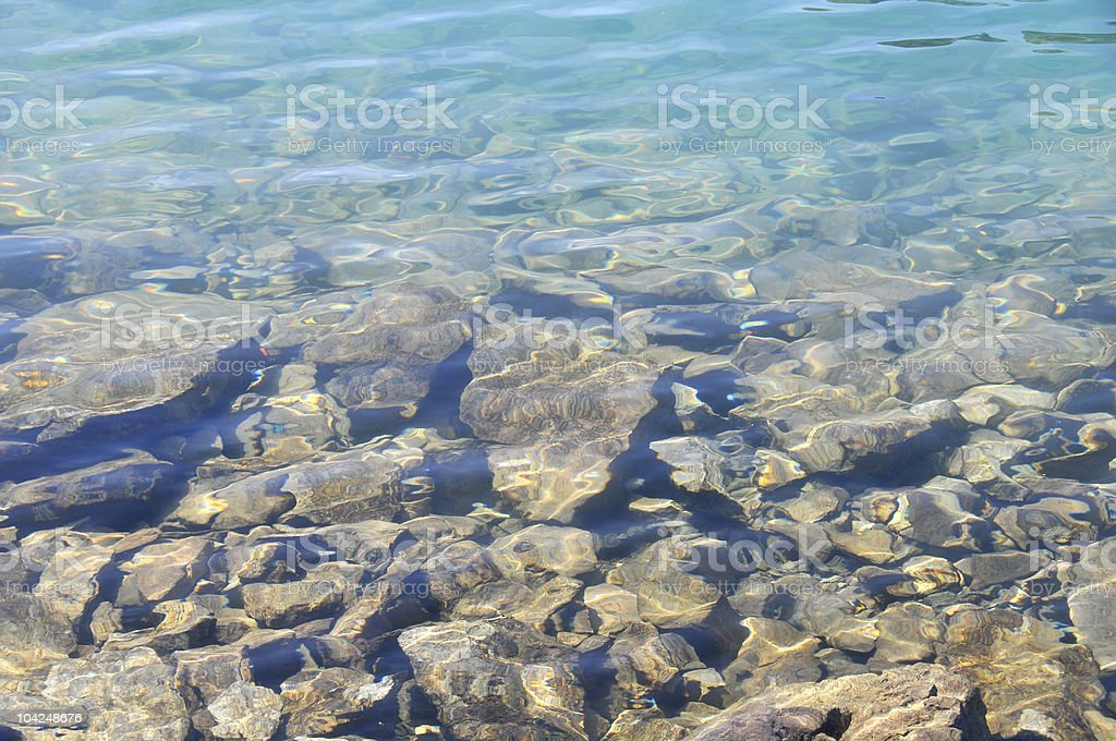Underwater rocks royalty-free stock photo