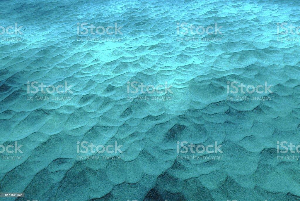 Underwater Sand Dunes royalty-free stock photo