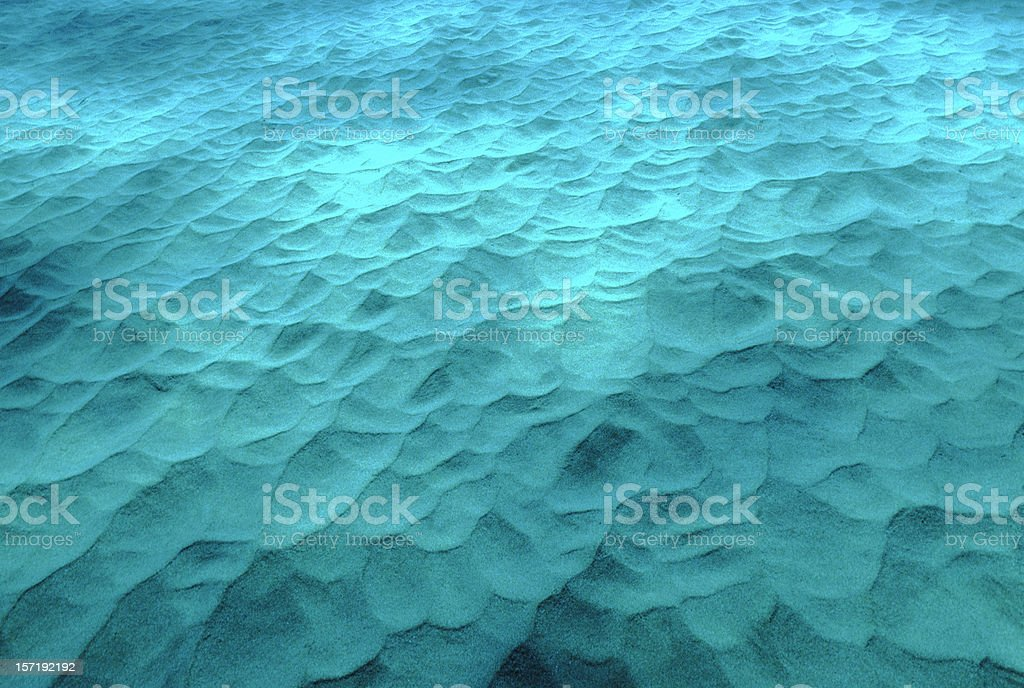 Underwater Sand Dunes stock photo