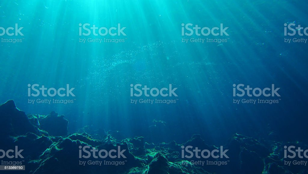Underwater Scene Background stock photo