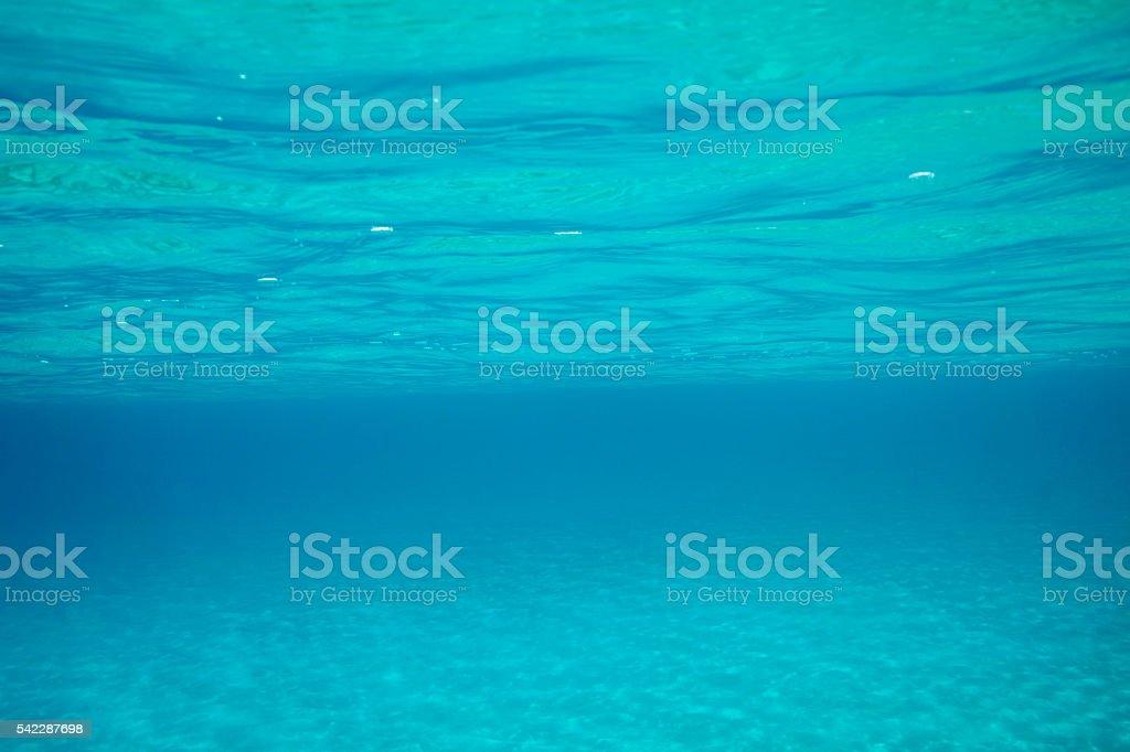 Underwater sea background     Beauty in nature  Beautiful blue lagoon stock photo