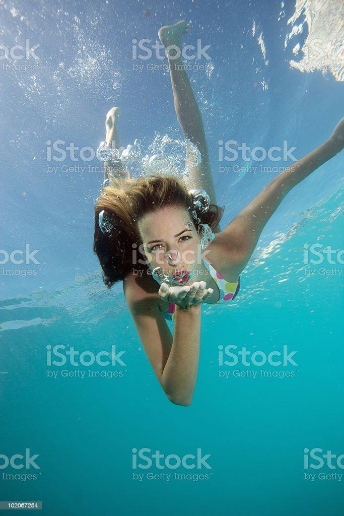 Underwater shot of girl royalty-free stock photo