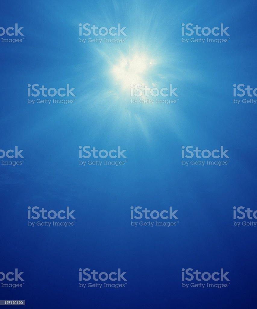 Underwater sunburst #1 royalty-free stock photo
