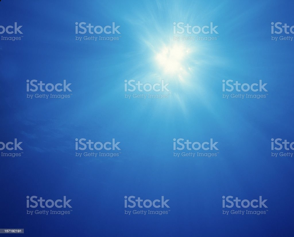 Underwater Sunburst #2 royalty-free stock photo