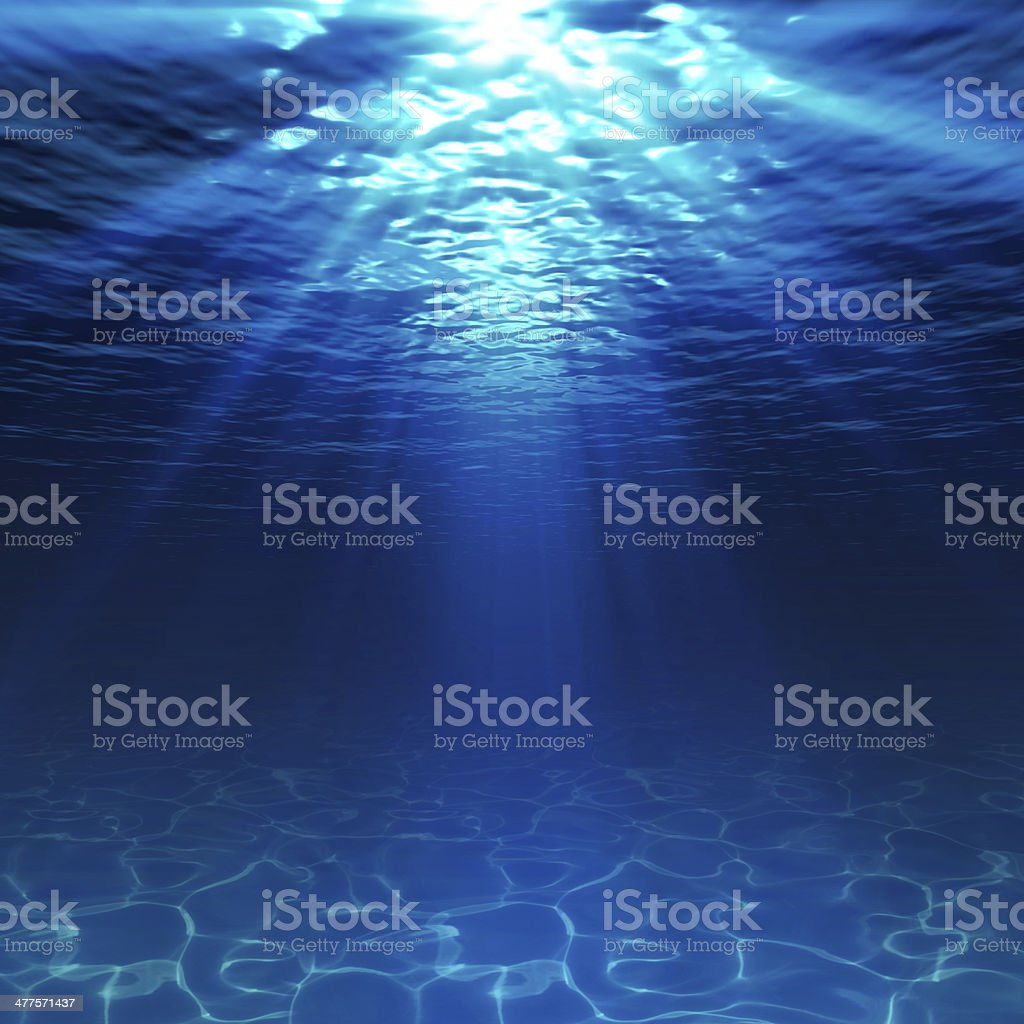 underwater view with sandy seabed stock photo