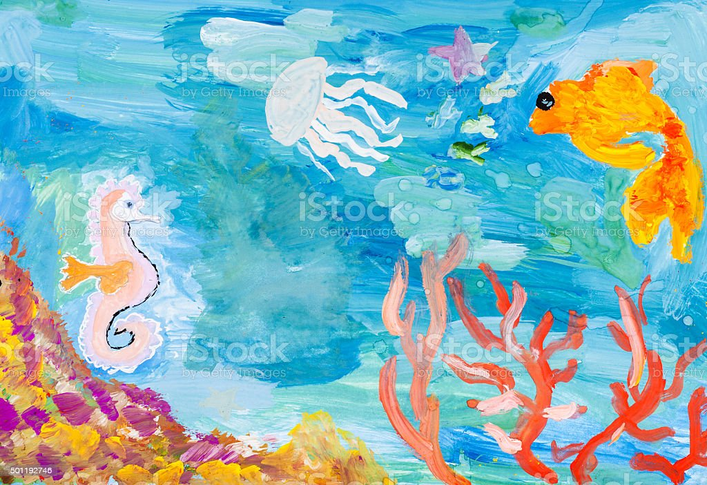 underwater world of the coral reef stock photo