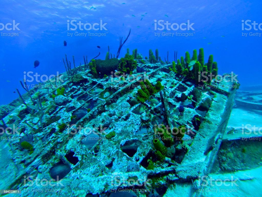 Underwater Wreck Fragments - The Dome stock photo