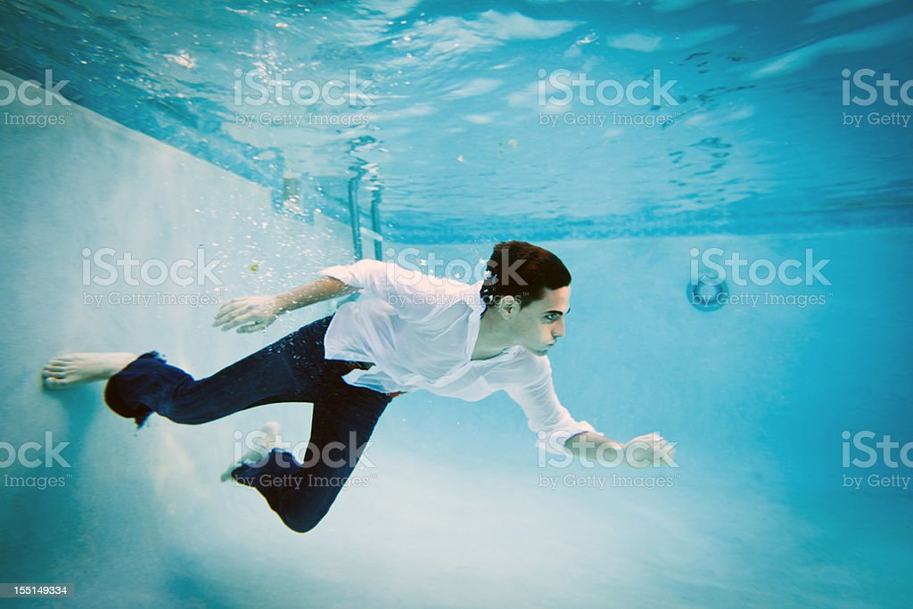 Underwater young man royalty-free stock photo