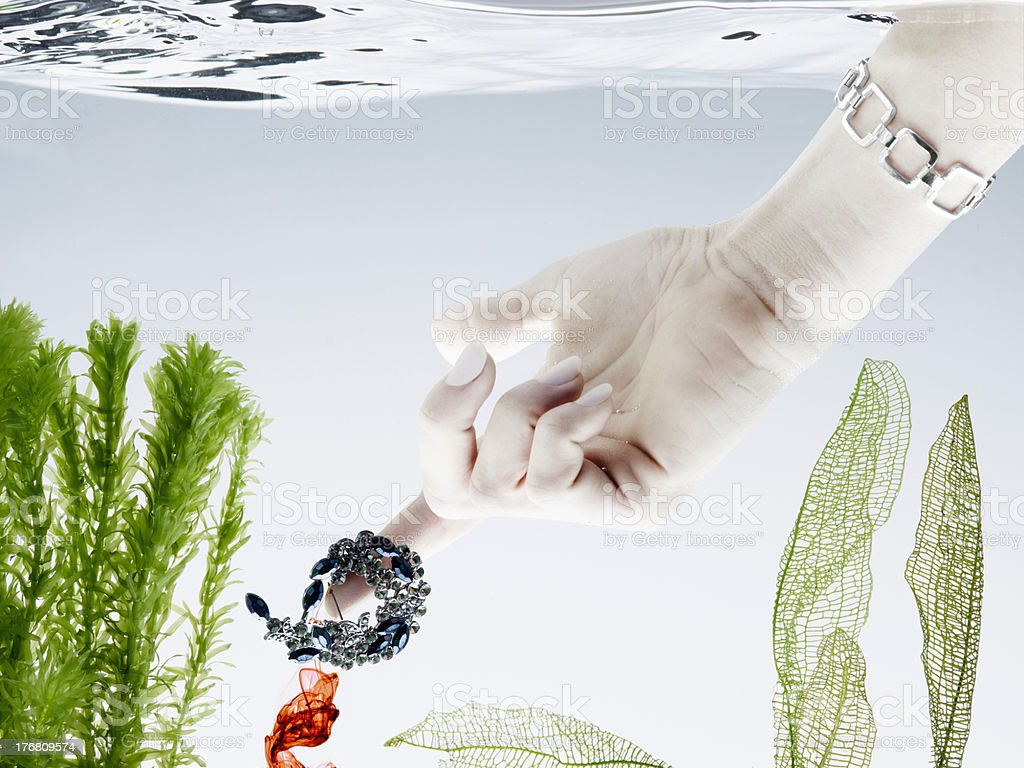 underwatertreasure royalty-free stock photo