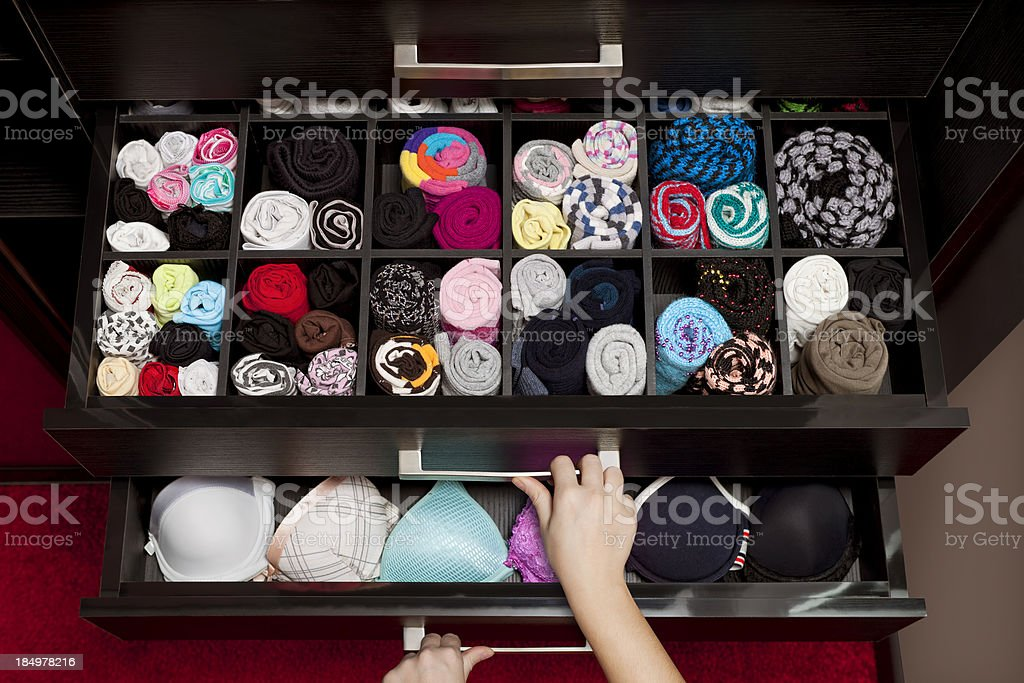 underwear drawer stock photo