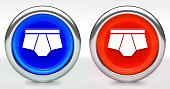 Underwear Icon on Button with Metallic Rim