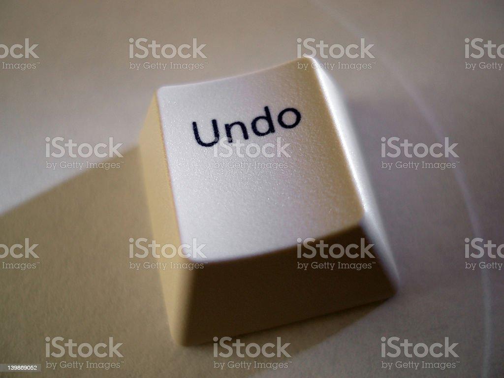 Undo Key royalty-free stock photo