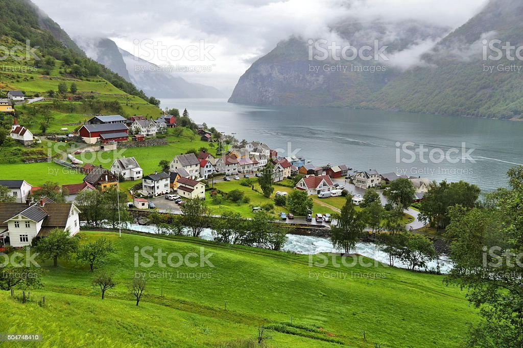 Undredal, Sognefjord stock photo