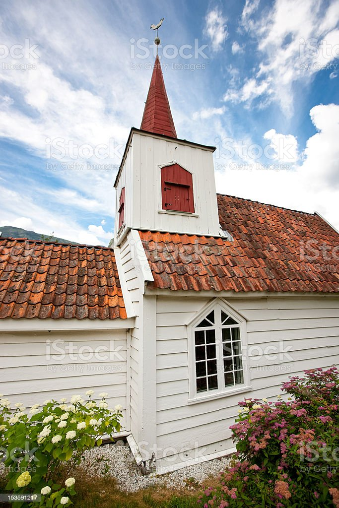 Undredal stave church stock photo