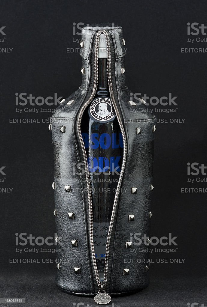 Undressed Absolut Vodka Rock Edition royalty-free stock photo