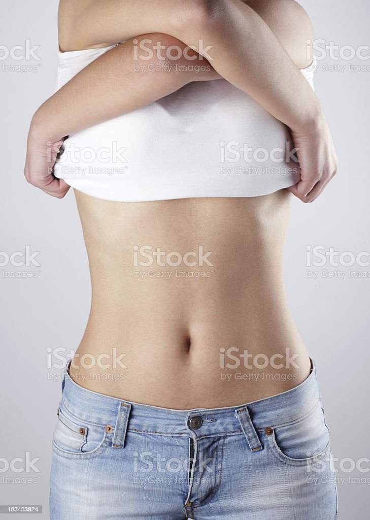 Undressing royalty-free stock photo
