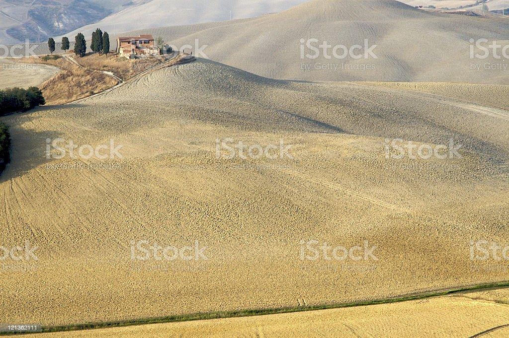 Undulating hills royalty-free stock photo