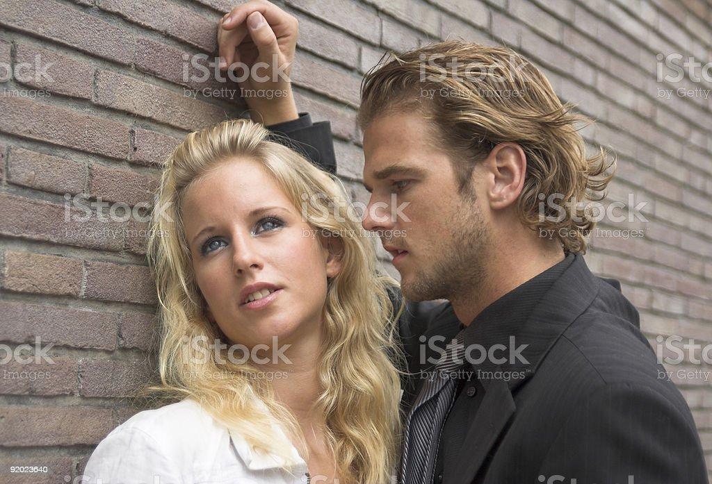 Uneasy conversation stock photo