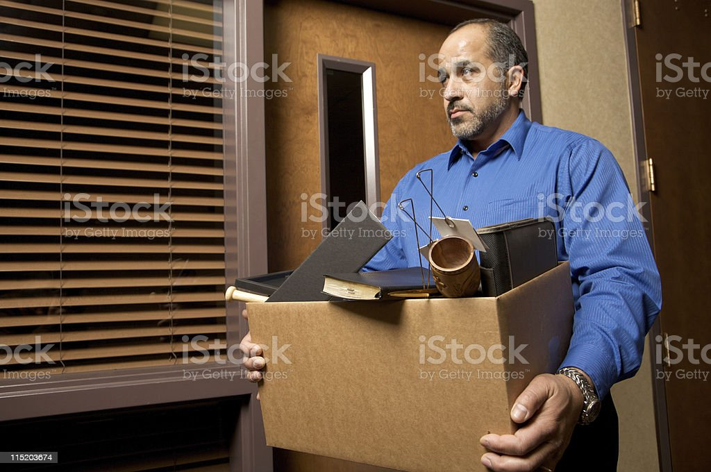 unemployed male worker stock photo